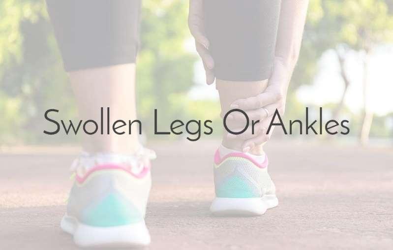 近距离的一张纸:肿胀的腿或脚踝